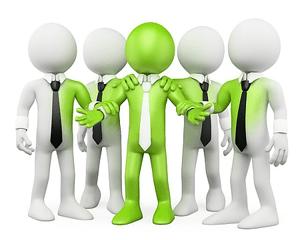Власть и влияние в организации - человечки